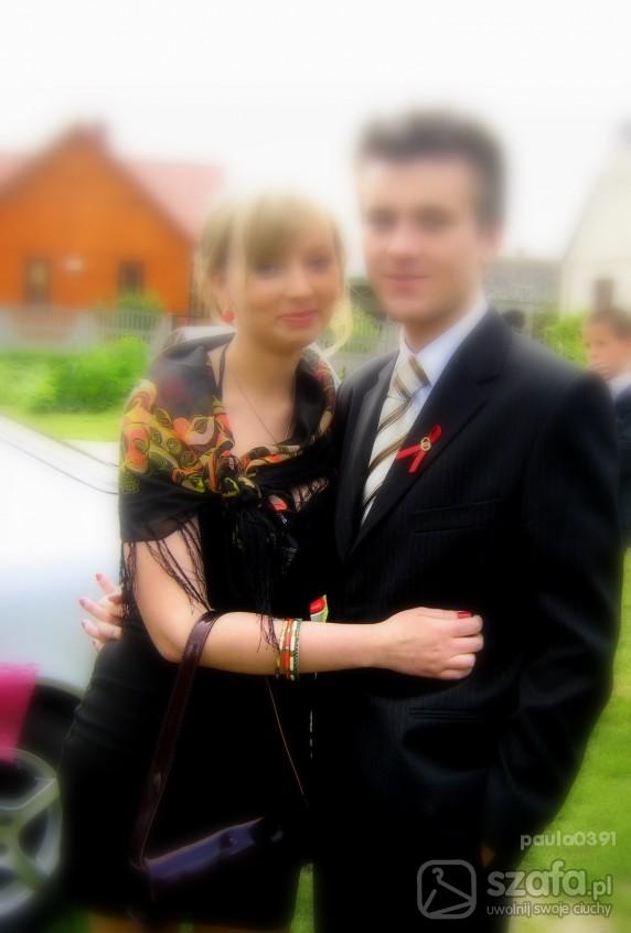 Eleganckie mała czarna weselnie
