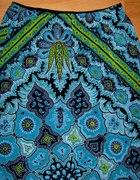 Spódnica folkowa niebieska...