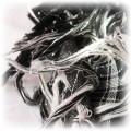 Piękna czarno biała arafatka
