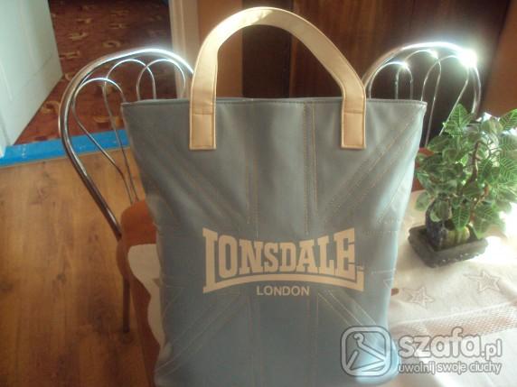 Do pracy błekitna torba lonsdale