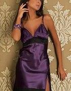 satynowa super sexi sukienka
