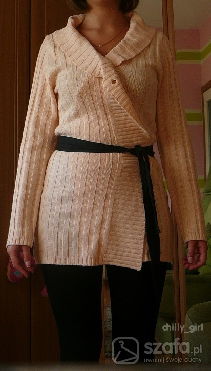 długi sweter...