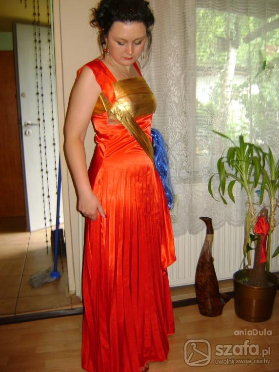 Wieczorowe Czarwona suknia