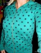 Zielona bluzka w gwiazdki...