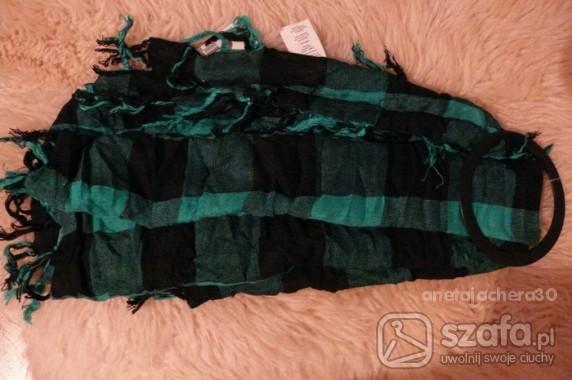 Chusty i apaszki nowa zielono czarna apaszka