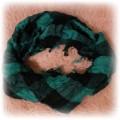 nowa zielono czarna apaszka