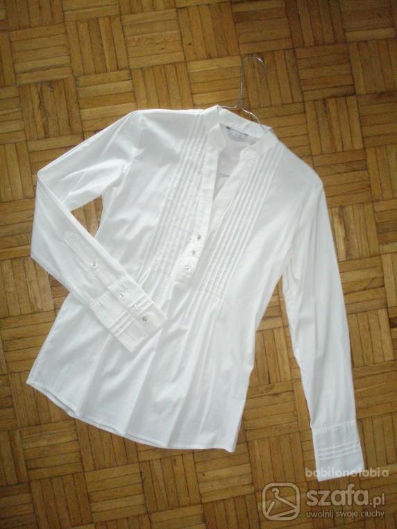Koszule biała koszula długi rękaw