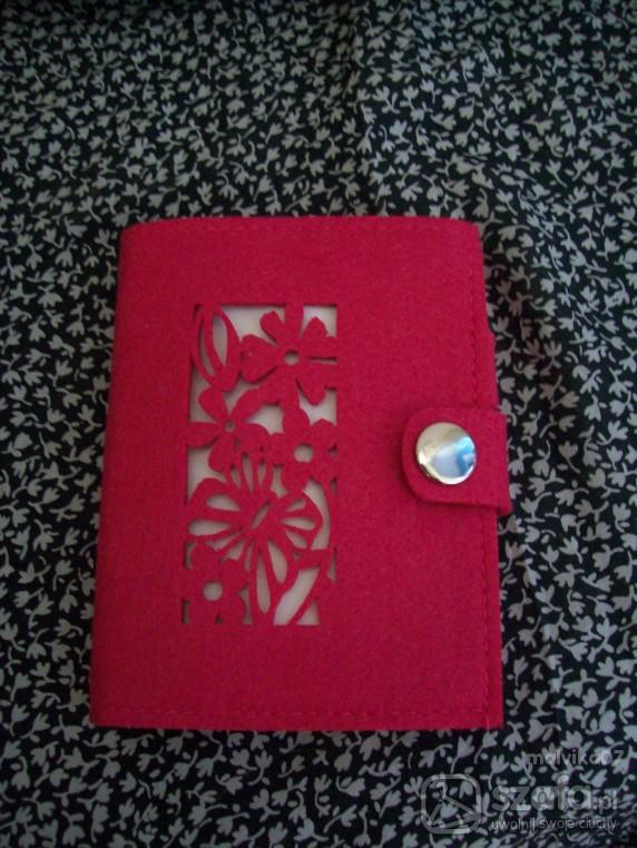 Pozostałe piękny notes idealny do torebkiróżowyfilc