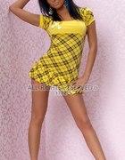 Sukienka w kratkę żółta...
