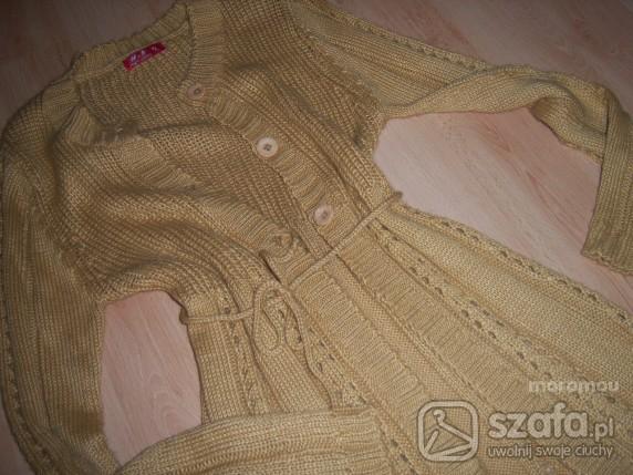 karmelowy sweter długi tylko 19zł