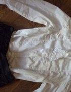 stradivarius m l z żabotem biała