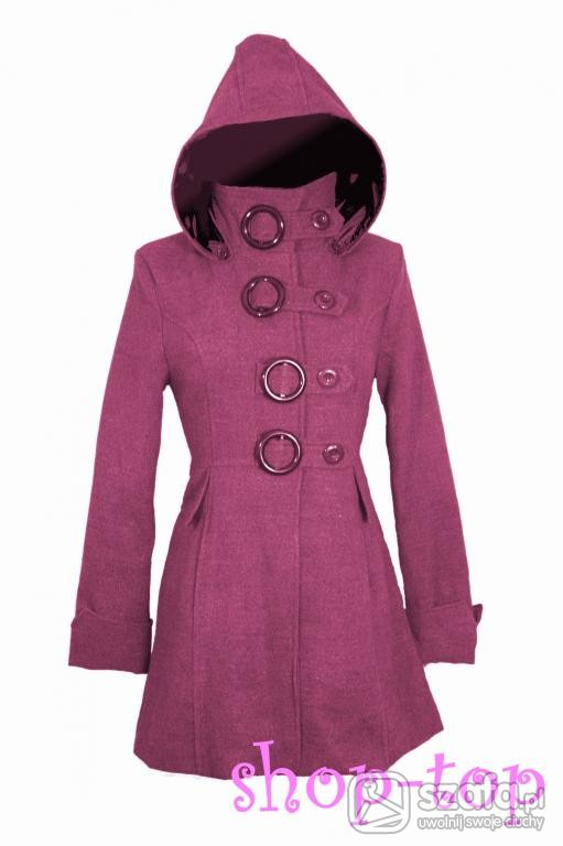 Odzież wierzchnia Rózowo fioletowy płaszcz piekny
