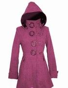 Rózowo fioletowy płaszcz piekny