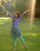 fioletowo zielono