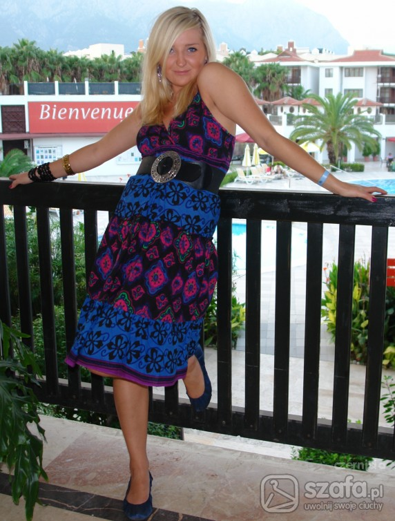 Romantyczne sukienka we wzory
