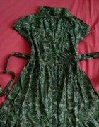 42 Sukienka Folk z Wiązaniem