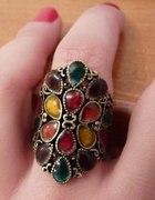 Duży pierścionek hippie tno fol