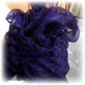 fioletowy szal w zeberke