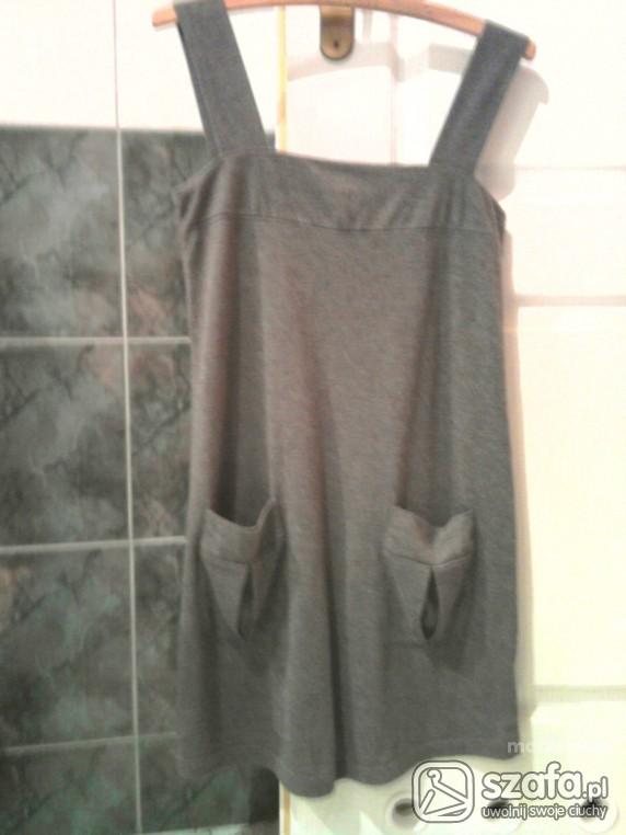 Tunika sukienka szara cienka z kieszonkami George