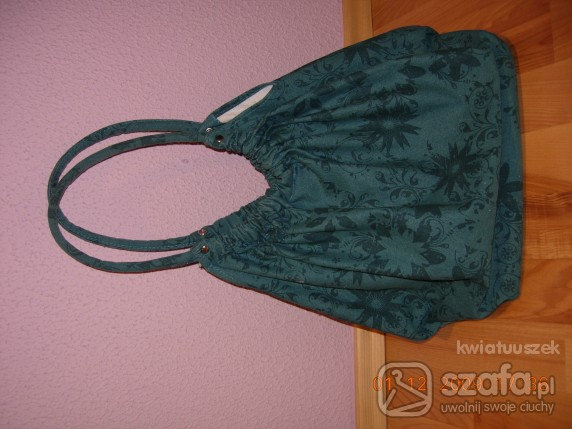 niebieska torba worek...
