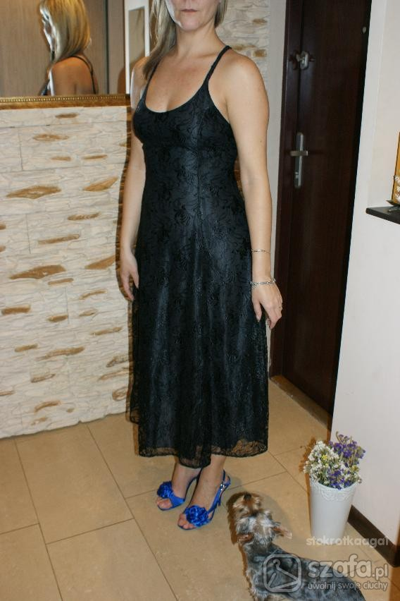 Na specjalne okazje Klasyka suknia z czarnej koronki