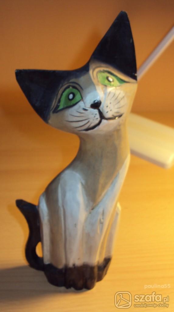 Pozostałe Drewniany kotek