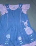 Sukienka jeansowa NEXT 9 12MSC