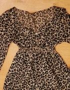 Koszula Tunika w panterkę S M