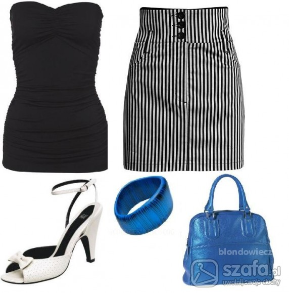 Eleganckie pasiasta spódnica