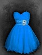 Niebieska sukieneczka