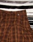 brązowa spódniczka essentials 38 krata...