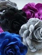 filcowe kwiaty broszki