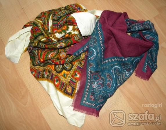 Chusty i apaszki Dwie chusty vintage boho etno folk