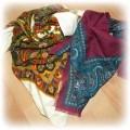 Dwie chusty vintage boho etno folk