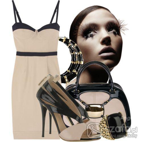 Eleganckie elegancka sukienka na wile okazji