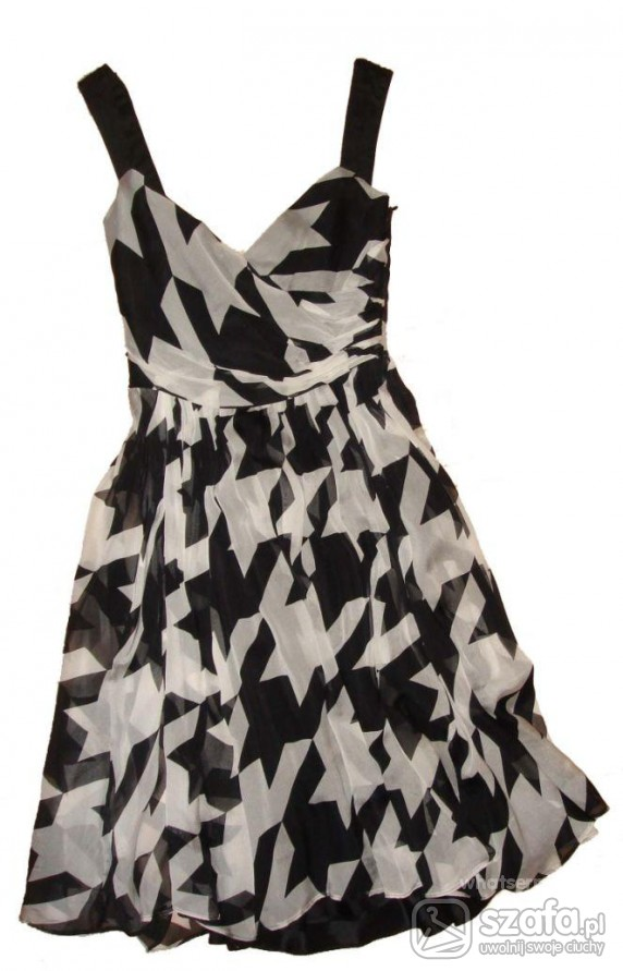 sukienka Zara w pepitkę