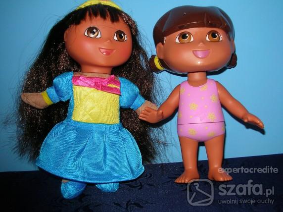 Zabawki Dwie lale DORA wys 20 cm śliczne fisher price