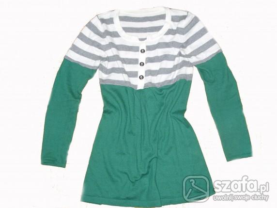 Swetry zielony sweterek rozmiar m