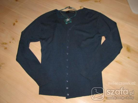 Swetry cardigan ciemny turkus