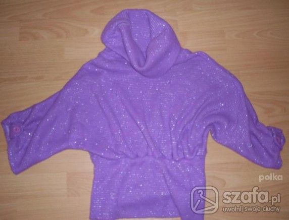 Swetry Fioletowy nietoperzowy swetrek