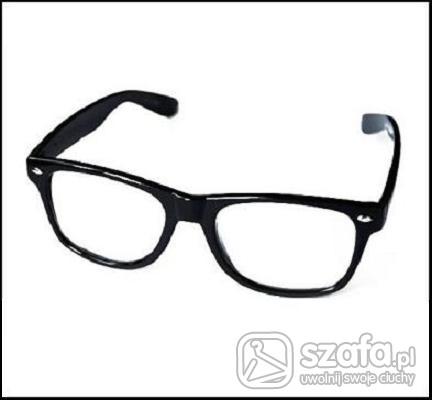 Okulary NERD okulary WAYFARER nerdy czarne