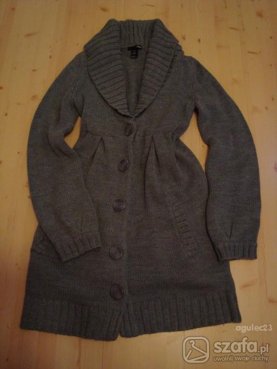 Swetry szary długi sweter
