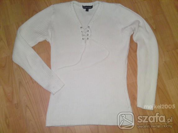 Swetry BIAŁY SWETEREK KAREN SCOT S M