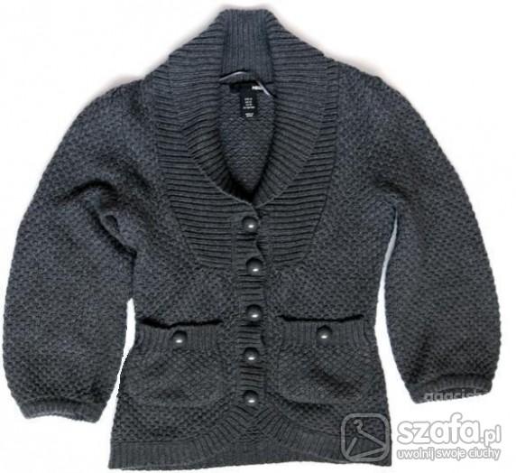 Swetry Rozpinany szary cardigan