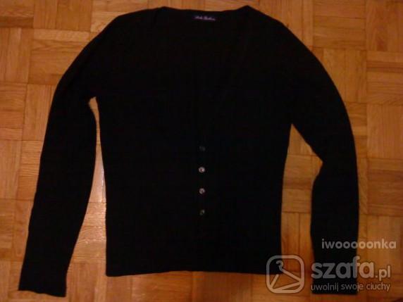 Swetry czarny sweter kardigan