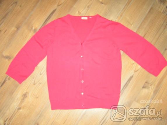 Swetry różowo malinowy kardigan