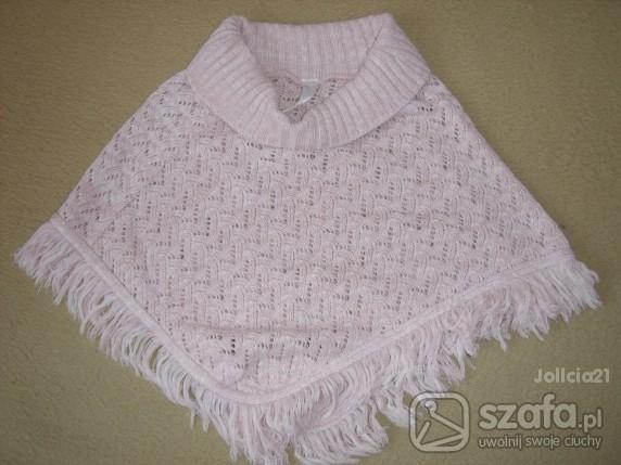 Swetry Różowe ponczo