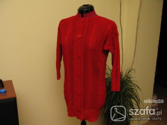 Swetry Czerwony kardigan długi Burberry