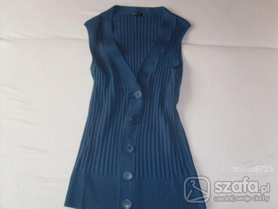 Swetry niebieski bezrękawnik atmosphere