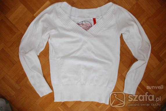 Swetry biały sweterek HM